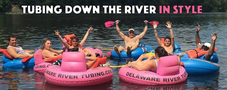 tubing down the river